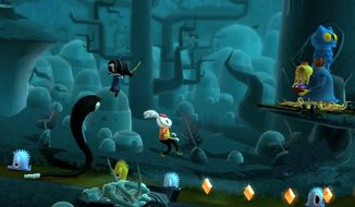 An orphan with a squid arm teams up with her rabbit pal Bunniguru to battle bizarre creatures in the video game Scarygirl.