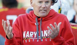 Randy Edsall was 2-10 in his first season. It was just the second 10-loss season in Maryland history. (Associated Press)