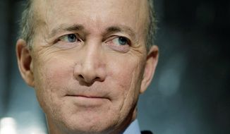** FILE ** Gov. Mitch Daniels, Indiana Republican