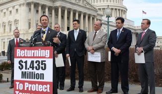 Rep. Jeff Landry, Louisiana Republican, at a debt reduction event on Feb. 1
