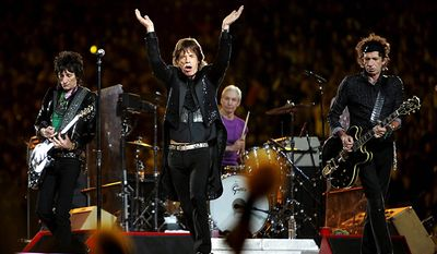 The Rolling Stones offered a memorable performance during halftime of  Super Bowl XL in 2006. (Associated Press)