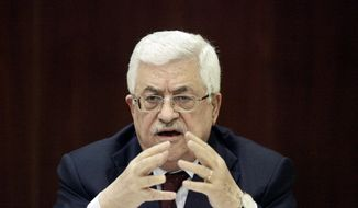 ** FILE ** Palestinian Authority President Mahmoud Abbas. (Associated Press)