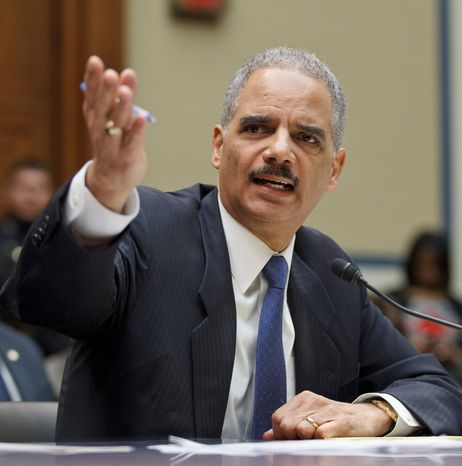 Attorney General Eric H. Holder Jr. testifies Thursday before the House Oversight and Government Reform Committee on the Fast and Furious gunrunning operation. (Associated Press)