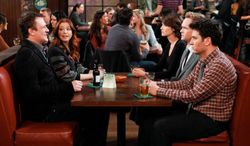"""""""How I Met Your Mother"""" stars (from left) Jason Segel, Alyson Hannigan, Cobie Smulders, Neil Patrick Harri, and Josh Radnor. The CBS show debuted in 2005. (CBS via Associated Press)"""