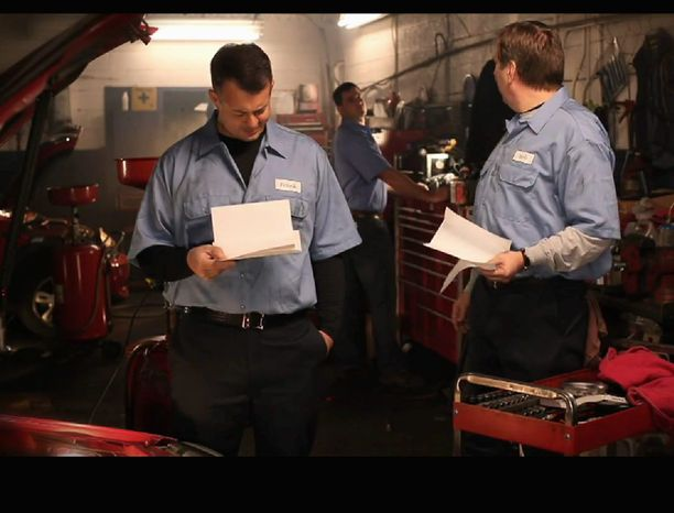 An ad telecast during the Super Bowl for the Employee Rights Act was shown in the D.C. market. The spot featured auto-shop workers complaining about union dues and questioning each other about why they joined the union. (Center for Union Facts)