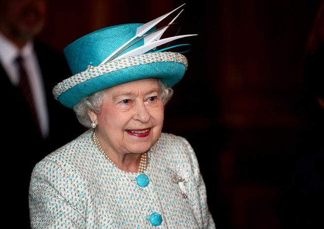 Britain's Queen Elizabeth II visits the King's Lynn Town Hall in eastern England on Monday, Feb. 6, 2012, to mark the 60th anniversary of her accession to the British throne. (AP Photo/PA, Chris Radburn)