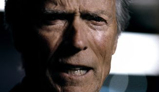 "Actor Clint Eastwood is seen here in a television ad titled ""It's Halftime In America,"" which aired Feb. 5, 2012, during Super Bowl XVLI. (Associated Press/Chrysler Group LLC)"