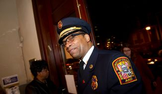 ** FILE ** Washington D.C. Fire and Emergency Medical Services Chief Kenneth B. Ellerbe (Rod Lamkey Jr/ The Washington Times)