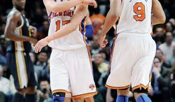 New York point guard Jeremy Lin (left) scored 25 points against New Jersey and 28 against Utah in the Knicks' two games before facing Washington on Wednesday night at Verizon Center. (Associated Press)