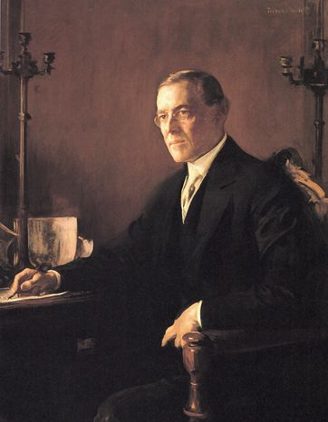 Edmund Tarbell's depiction of Woodrow Wilson in included in the new coffee-table book of presidential portraits. (Photograph provided
