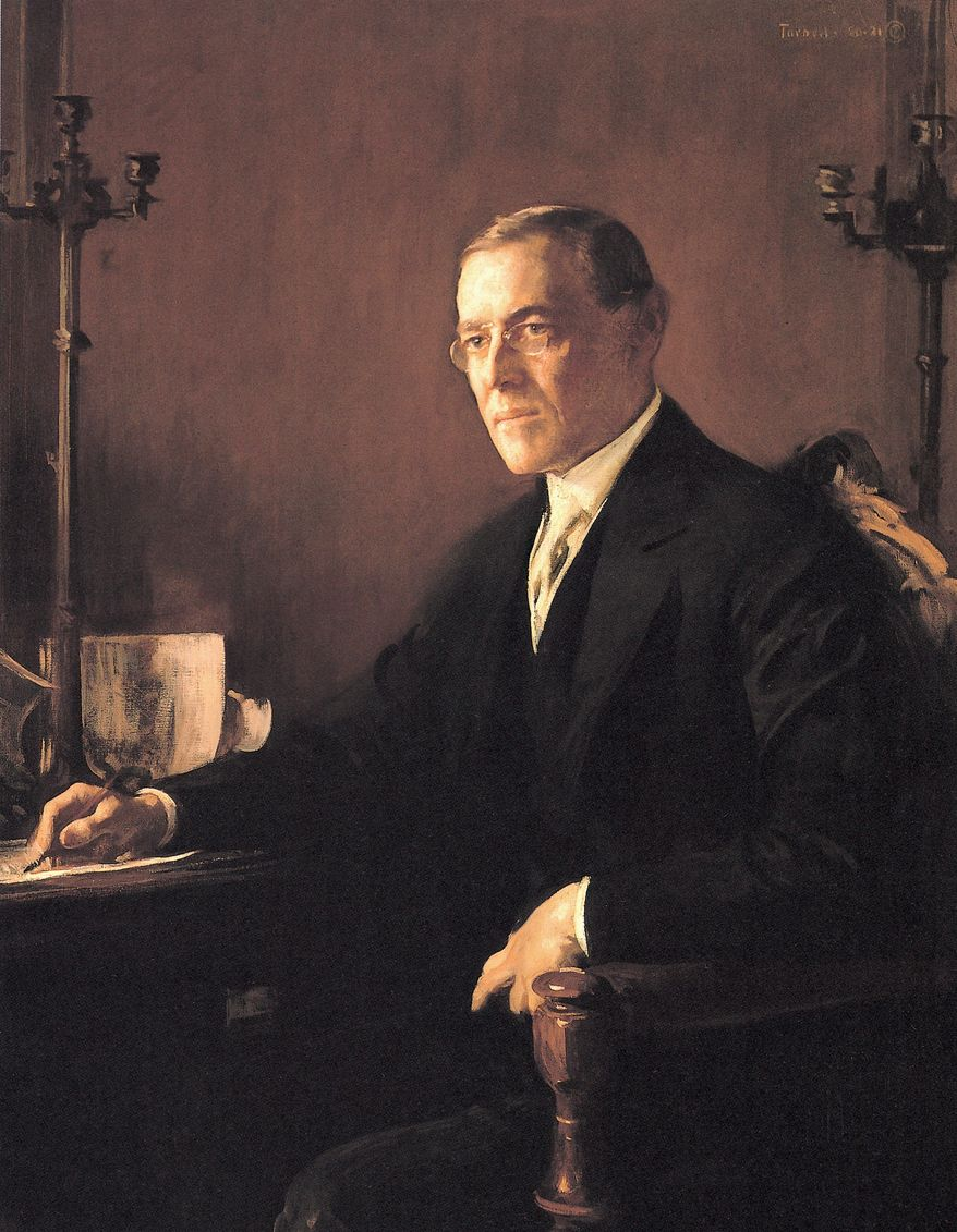 Edmund Tarbell's depiction of Woodrow Wilson in included in the new coffee-table book of presidential portraits. (Photograph provided by the National Portrait Gallery)