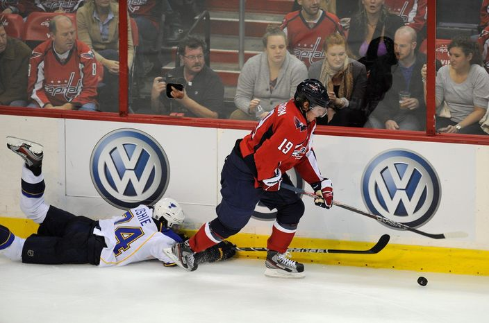 Center Nicklas Backstrom still leads the Capitals in scoring with 42 points despite missing 15 games. (Associated Press)