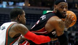 LeBron James has advanced to the NBA Finals with two teams, but he has yet to win a ring. (Associated Press)