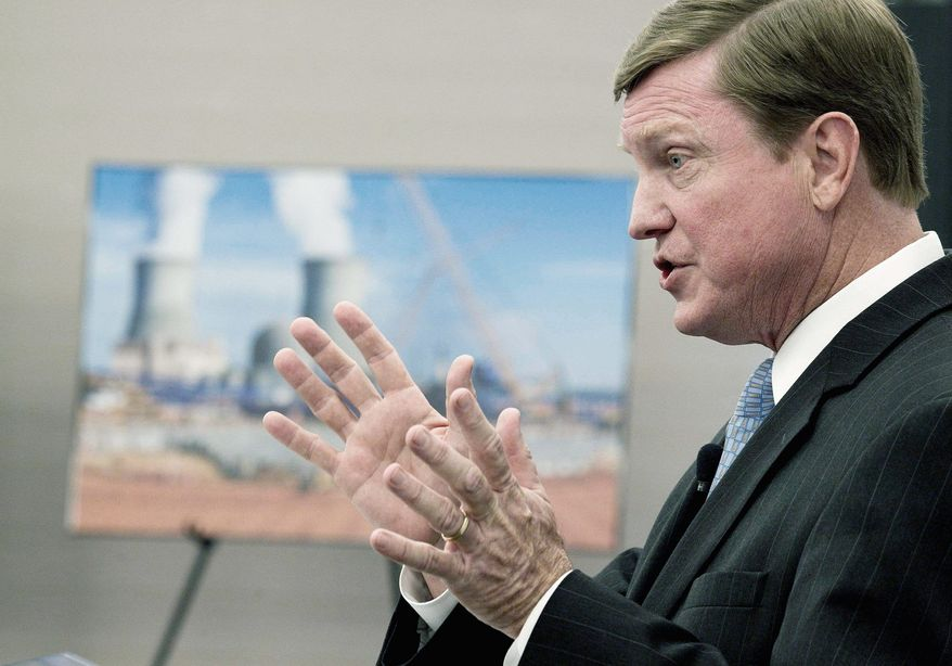 "Southern Company official Thomas A. Fanning called the Nuclear Regulatory Commission's approval of two nuclear reactors ""a monumental accomplishment for Southern Company, Georgia Power, our partners and the nuclear industry. (Associated Press)"