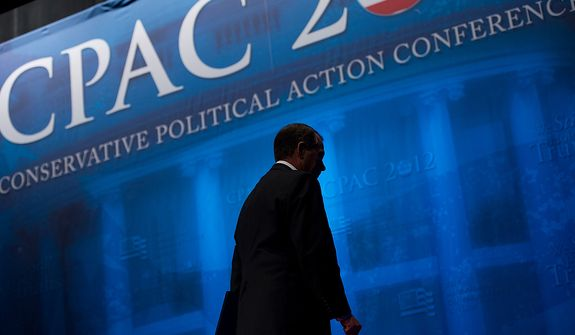 Speaker John Boehner (R-Ohio) departs after speaking at the Conservative Political Action Conference (CPAC) held at the Marriott Wardman Park, Washington, DC, Thursday, February 9, 2012. The annual political conference draws thousands of supporters and prominent conservative figures. (Andrew Harnik / The Washington Times)