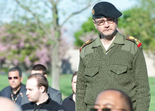 Albrecht Gero Muth has often donned a military costume and claimed to be a secret agent and Iraqi army general. Mr. Muth, 47, has been charged with second-degree murder in connection with the death of his wife, Viola Herms Drath. (Mai Photo News Agency)