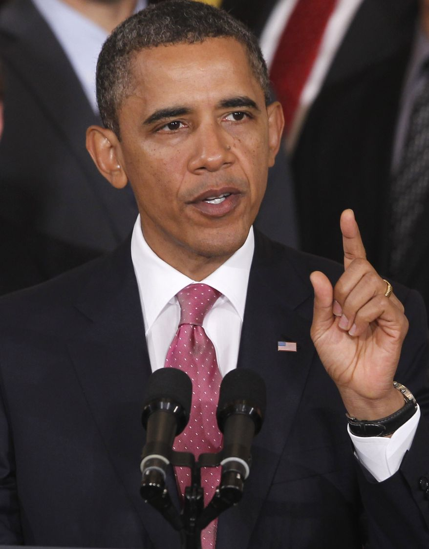 **FILE** President Obama speaks Sept. 23, 2011, about No Child Left Behind Reform at the White House. (Associated Press)
