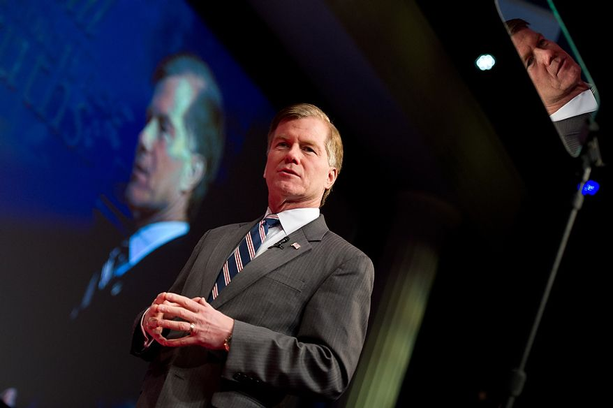 Virginia Gov. Bob McDonnell speaks Feb. 10, 2012, at the Conservative Political Action Conference (CPAC) in Washington. (Andrew Harnik/The Washington Times)