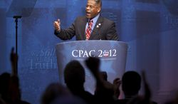 **FILE** Rep. Allen West, Florida Republican, speaks at the Conservative Political Action Conference (CPAC) in Washington on Feb. 10, 2012. (Associated Press)