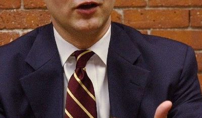 Daniel Grabauskas, seen here in March 2003 when he was Massachusetts' transportation secretary, sought federal funding for infrastructure projects at the behest of then-Gov. Mitt Romney. (Associated Press)