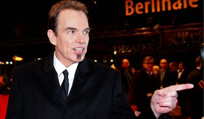 Director Billy Bob Thornton arrives for the screening of the film Jayne Mansfield's Car at the 62 edition of the Berlinale, International Film Festival in Berlin, Monday, Feb. 13, 2012. (AP Photo/Markus Schreiber)