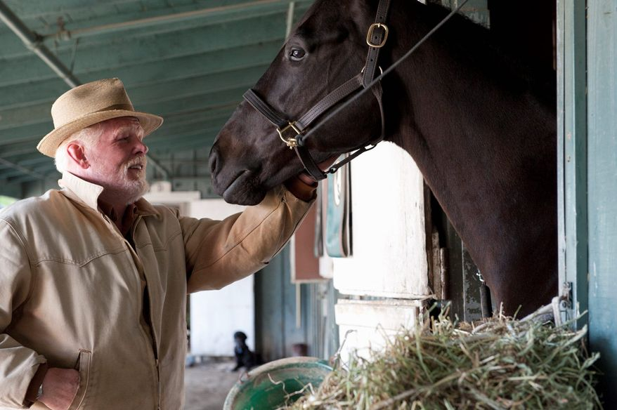 """** FILE ** Nick Nolte stars with Dustin Hoffman in """"Luck."""" HBO is defending its treatment of horses used in the racetrack drama after two of the animals died during production. (HBO via Associated Press)"""