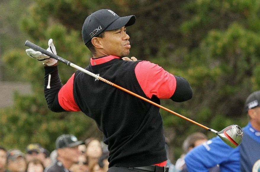 Tiger Woods, 36, used to strike fear in opponents, but no longer. His putting game abandoned him during the final round of the Pebble Beach National Pro-Am, and playing partner Phil Mickelson beat him by 11 shots. (Associated Press)