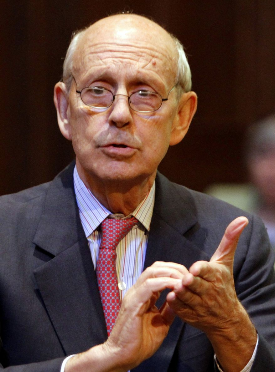 **FILE** Supreme Court Justice Stephen Breyer (Associated Press)
