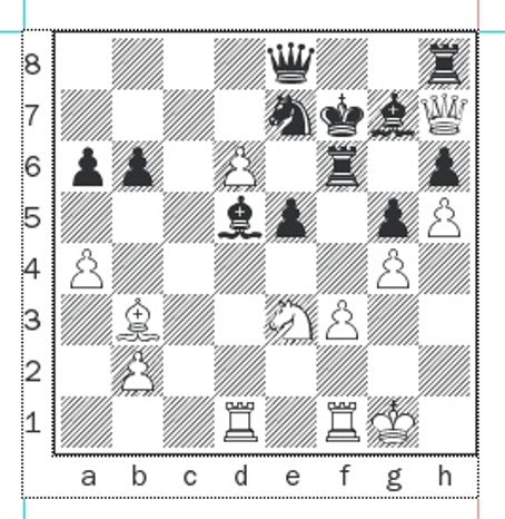 Skripchenko-Fressinet after 33...Bd5.