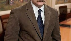 """NBC """"I'm happy to just be a petrified tree stump where I get a laugh because a bird lands on me and picks an insect out of my hair,"""" actor Nick Offerman says of his """"Parks and Recreation"""" character Ron Swanson, a masculine role model plagued by no breach of confidence."""