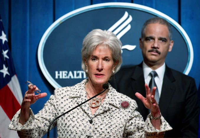 Health and Human Services Secretary Kathleen Sebelius said that self-insuring religious employers will be exempted from a contraception coverage mandate. Attorney General Eric H. Holder Jr. joined her Tues