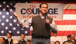 TRAILING: Rick Santorum has won four states but just three delegates so far. Mitt Romney also has won four states but has 73 delegates. He is waging a strong effort to beat Mr. Santorum in Michigan. (Associated Press)