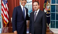 President Obama and Ambassador Eklil Ahmad Hakimi of Afghanistan are pictured in the Oval Office of the White House in Washington. (Photo courtesy of www.embassyofafghanistan.org)