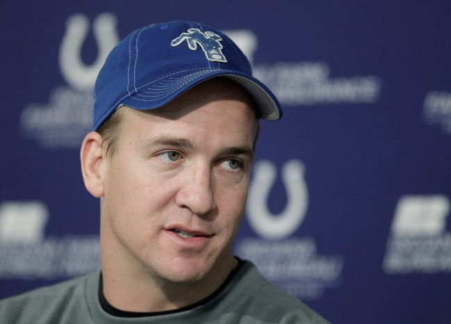 **FILE** Indianapolis Colts quarterback Peyton Manning (Associated Press)
