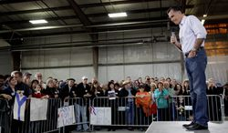 Mitt Romney is among a pack of repeat Republican presidential contenders in the past 50 years. The former Massachusetts governor speaks to a crowd gathered Friday at Guerdon Enterprises in Boise, Idaho. (Associated Press_