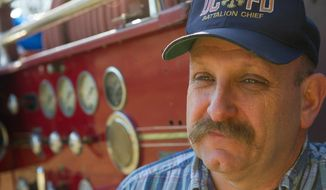 D.C. Battalion Chief Richard G. Sterne Jr. at his home in Ijamsville, Md., on Monday, February 20, 2012. Chief Sterne is being threatened with demotion by D.C. Fire Chief Ellerbe. (Rod Lamkey Jr/ The Washington Times)
