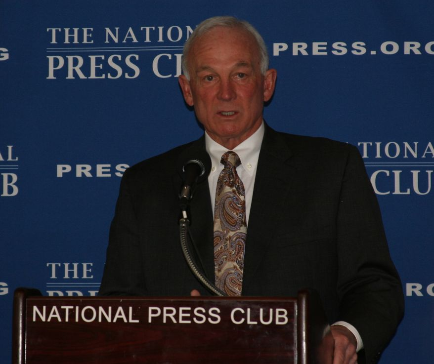 San Diego Mayor Jerry Sanders spoke at the National Press Club Monday about the progress his city has made over the past few years. (Photo courtesy of the mayor's office)