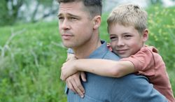 """Brad Pitt (top), with Laramie Eppler on his back, stars in director Terrence Malick's latest film, """"The Tree of Life."""" Mr. Malick's filmography also includes """"The Thin Red Line"""" set during World War II, """"Days of Heaven,"""" and his acclaimed first movie, """"Badlands,"""" (above) starring Martin Sheen and Sissy Spacek."""