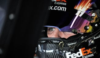 Denny Hamlin imploded over the final two races in 2010, killing his chance at the Sprint Cup championship. Last season, he won just one race and finished ninth in the standings. (Associated Press)