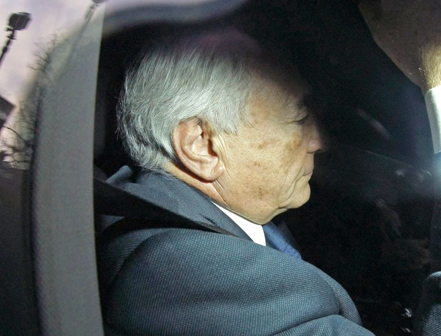 ** FILE ** Former International Monetary Fund chief Dominique Strauss-Kahn arrives at a police station in Lille, France, on Tuesday, Feb. 21, 2012. (AP Photo/Michel Spingler)