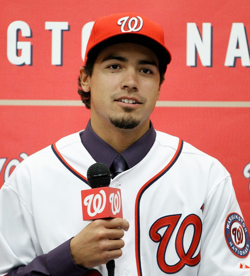 Anthony Rendon was the sixth overall pick in the 2011 MLB Draft by the Washington Nationals. He's a third baseman, but the team will give him work at second base and shortstop this spring training. (Associated Press)