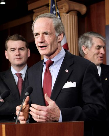 Sen. Thomas R. Carper, Delaware Democrat, is disappointed with the new $77 million computer system to detect Medicare fraud before money is paid out. (Associated Press)
