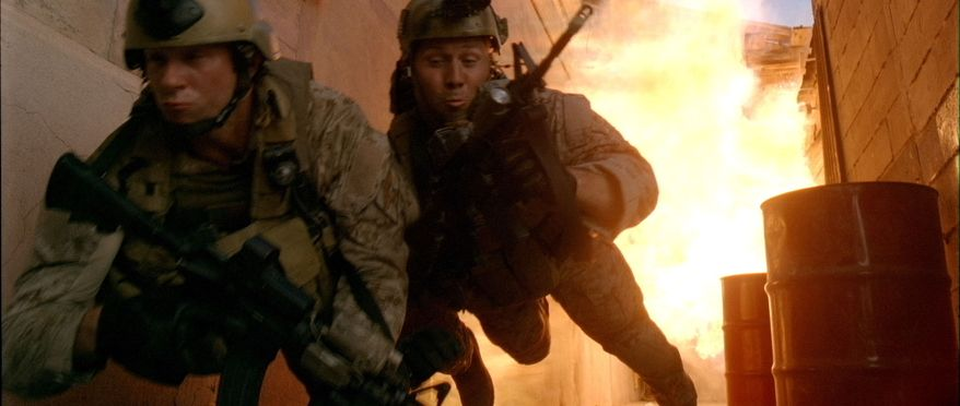 "A scene is shown from the film ""Act of Valor,"" which stars real, active-duty Navy SEALs. (Associated Press/Relativity Media)"