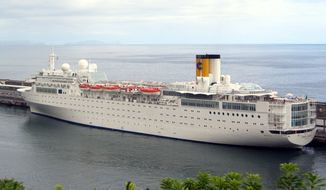 The Costa Allegra cruise ship is docked at Genoa, Italy, in this undated photo. (AP Photo/Tano Pecoraro)