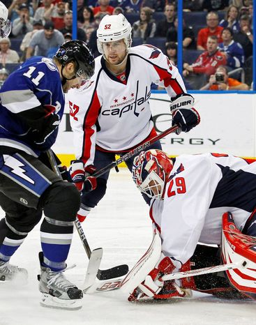 Capitals defenseman Mike Green is a welcome sight on the blue line. Injuries had limited him to just 15 games entering last night against the New York Islanders. (Associated Press)