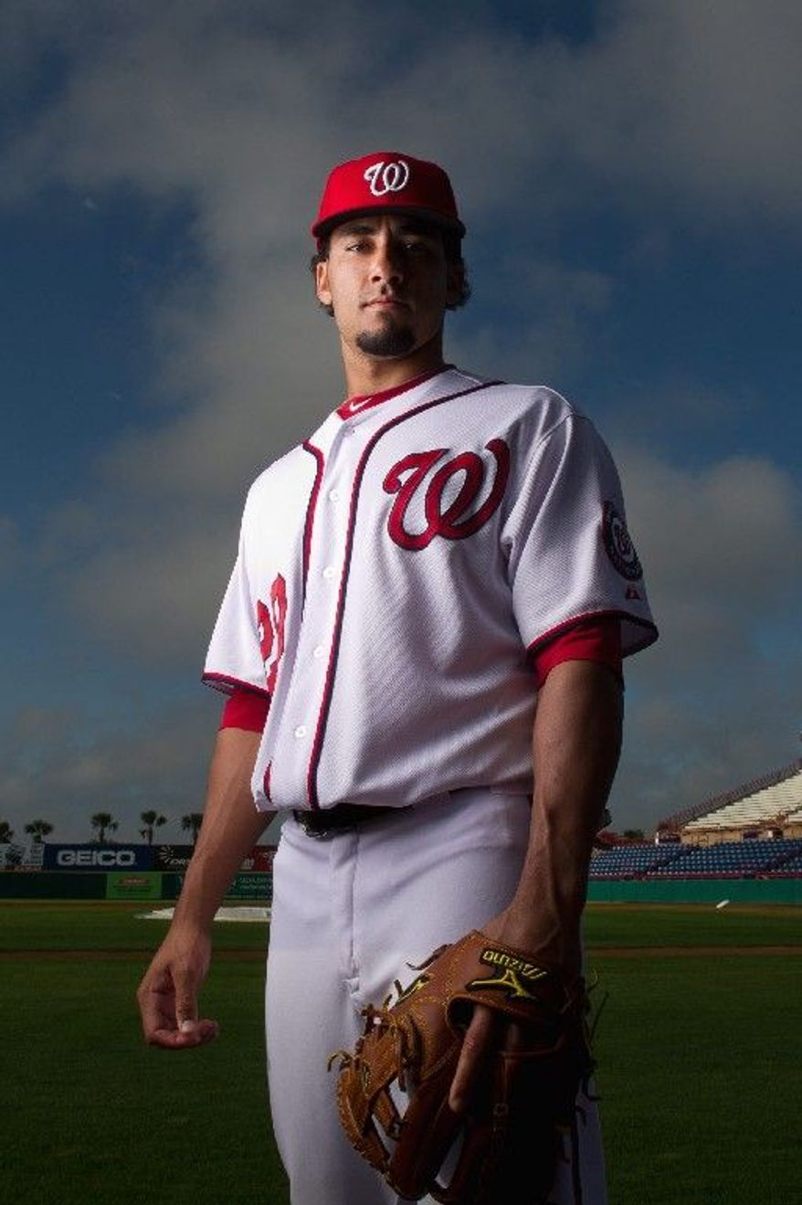 A slimmer Nationals shortstop Ian Desmond is entrenched as the leadoff hitter. His objective is to focus less on power and more on getting on base, with 15 triples this season his goal. (Andrew Harnik/The Washington Times)