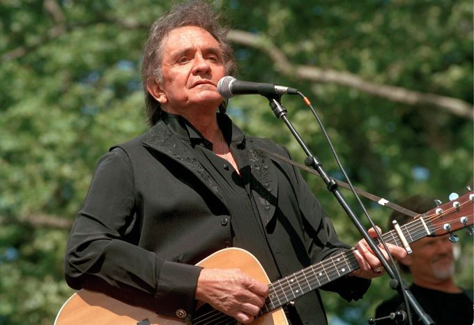 An all-star lineup will celebrate the career of the late Johnny Cash with a concert on April 20. Cash would have turned 80 this year. He died in 2003. (Associated Press)