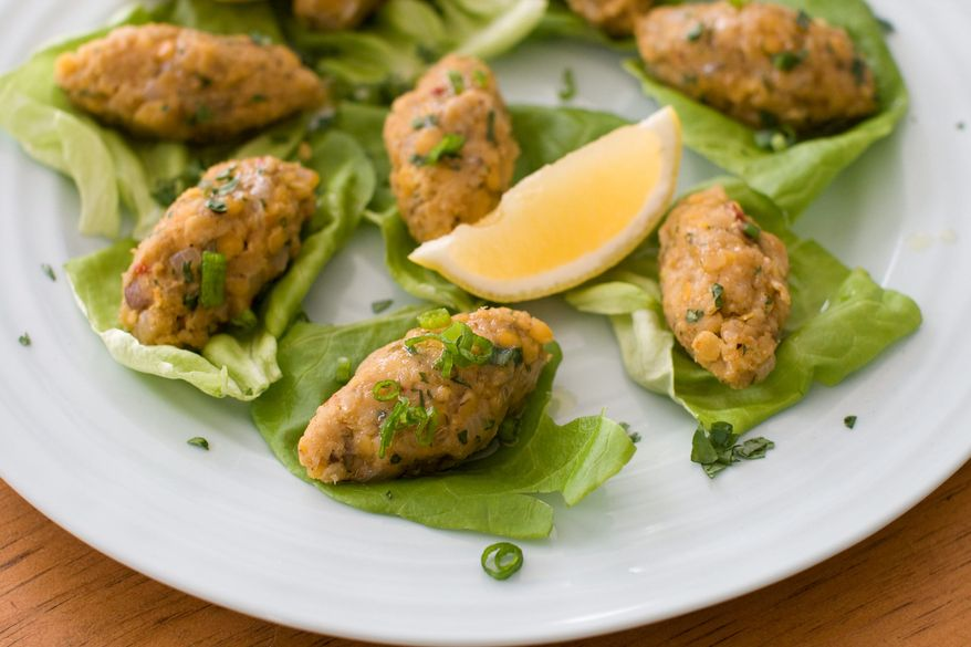 Vegetarian Turkish red lentil balls are a delicious, healthy and easy way to include a taste of Persian cuisine in your own Purim feast. (Associated Press)
