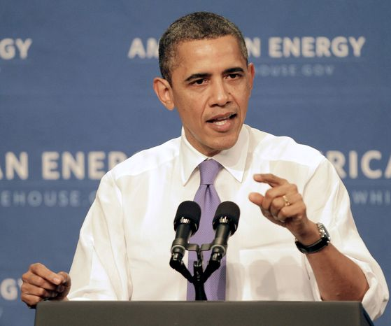 President Obama talks about U.S. oil dependence on March 1, 2012, in Nashua, N.H. (Associated Press)