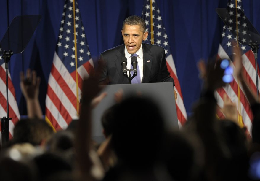 President Obama speaks March 1, 2012, at a fundraiser in New York City. (Associated Press)